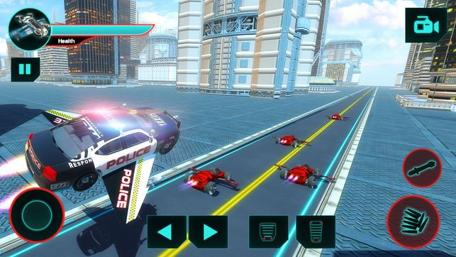 警察飞车追逐游戏中文汉化破解版(Police Flying Car Chase)图5: