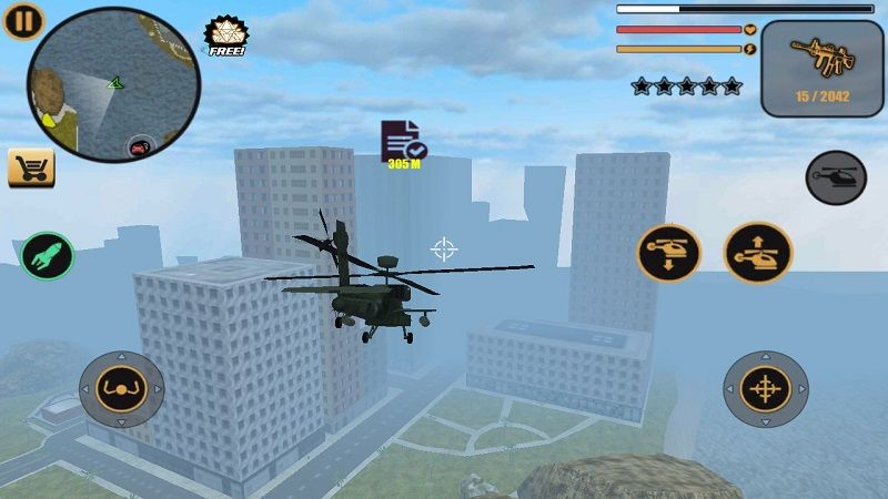 GTA侠盗猎车手迈阿密无限金币内购破解版下载(Miami Crime Simulator)图1:
